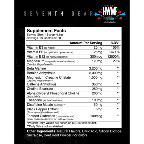 Seventh Gear Extreme Pre-Workout - Jacked Bull Nutrition