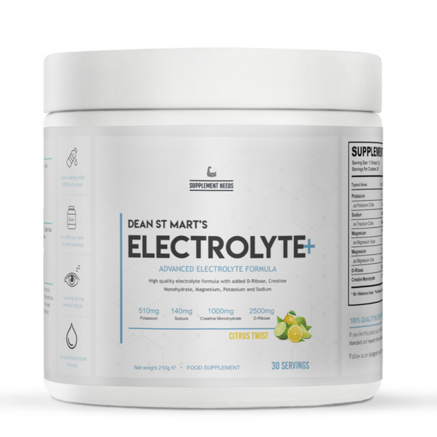 Supplement Needs Electrolyte+ 210g - Jacked Bull Nutrition