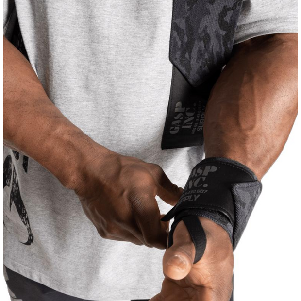 GASP HD Wrist Wraps Dark Camo - Jacked Bull Nutrition
