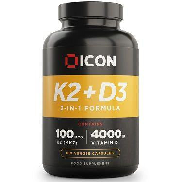 ICON Nutrition Vitamin K2 + D3 - Jacked Bull Nutrition
