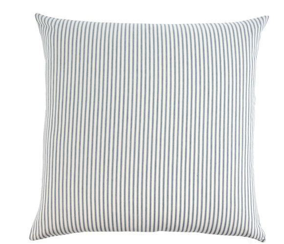 Navy Ticking Cushion