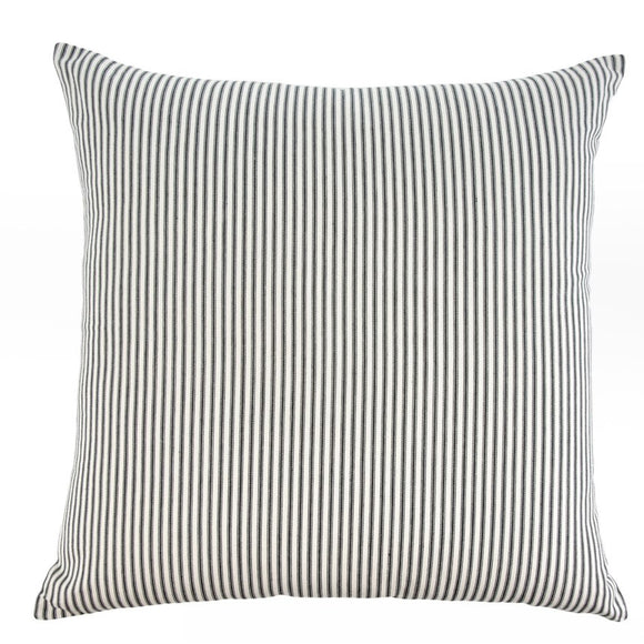 Black Ticking Cushion
