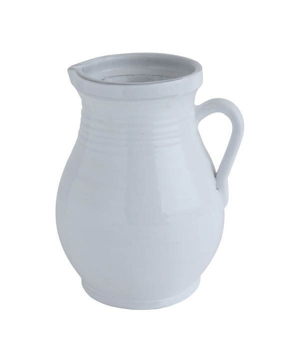White Terracotta Pitcher (Large)