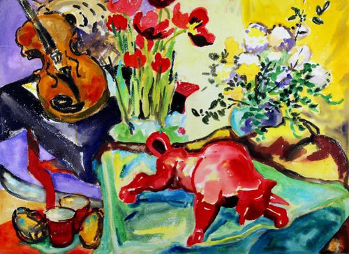 Still Life with Bull and Violin