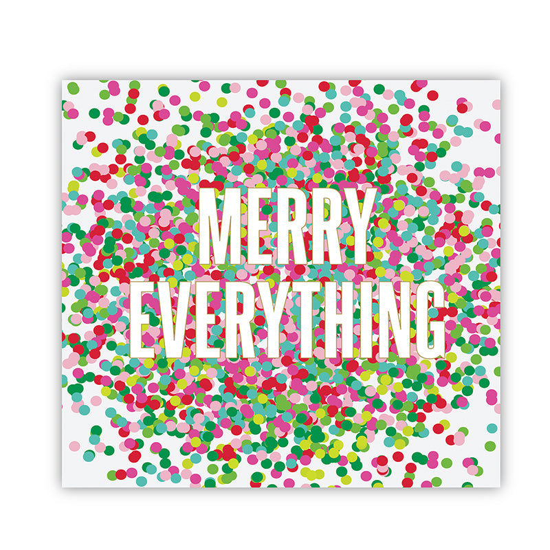 """Merry Everything"" Beverage Napkins"
