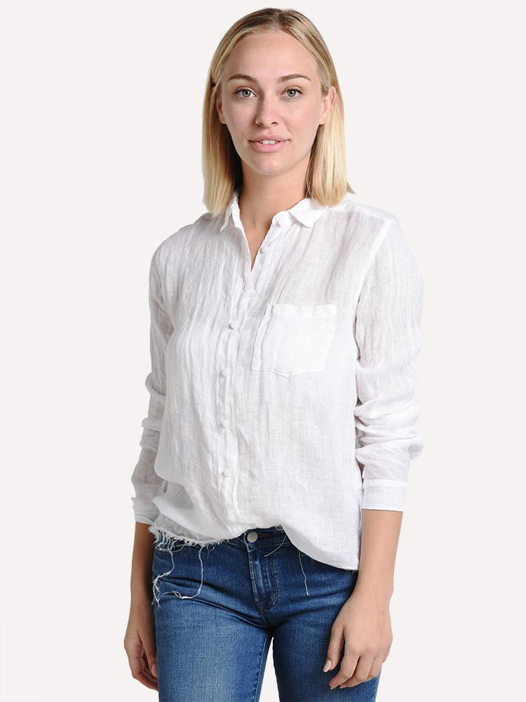 100% Linen Pocket Button Down Shirt