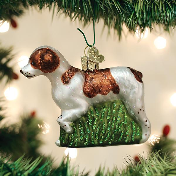 Brittany Spaniel Christmas Ornament