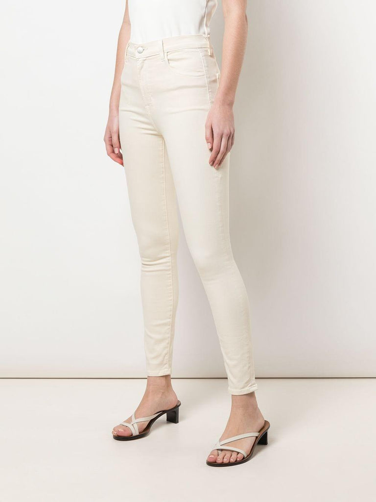 Leenah High Rise Ankle Skinny in Macadamia