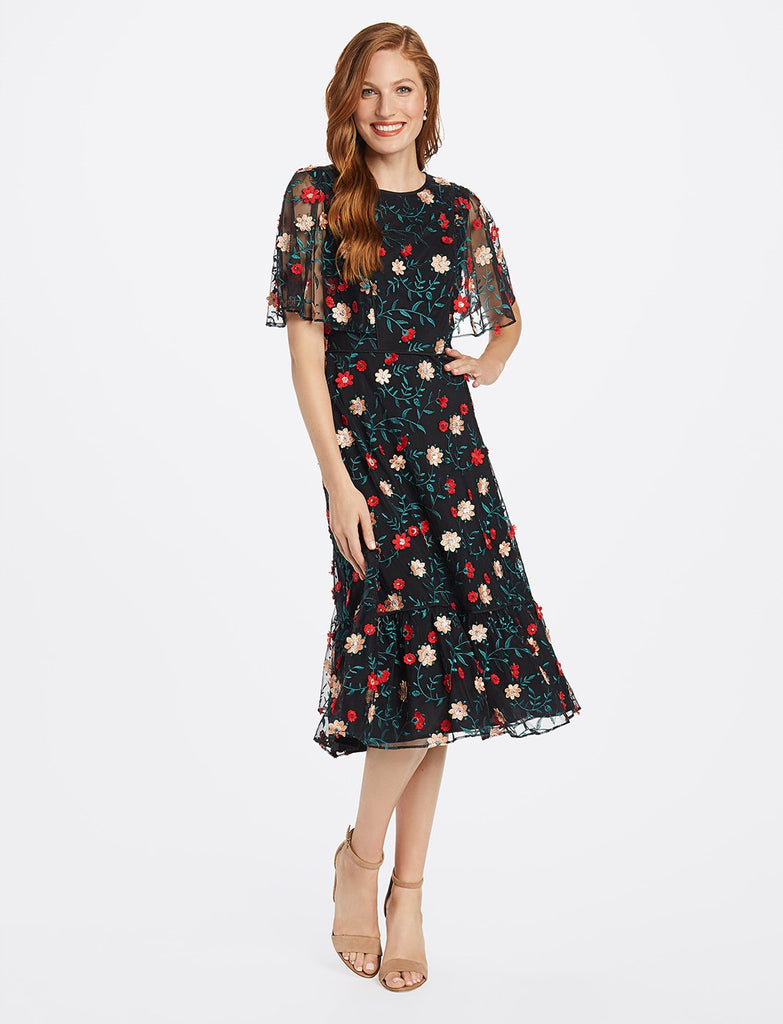 Collection Embroidered Tulle Dress
