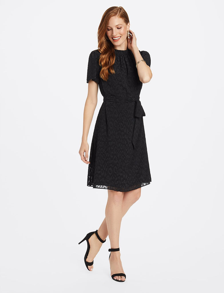 Jacquard Belted Shift Dress