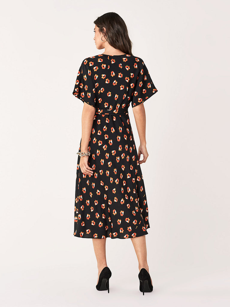 Kelsey Georgette Floral Midi Dress