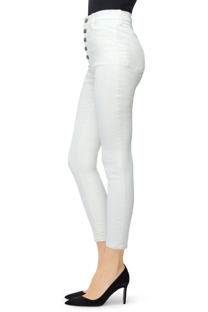 Lillie High Rise Crop Skinny in Coated Bubble