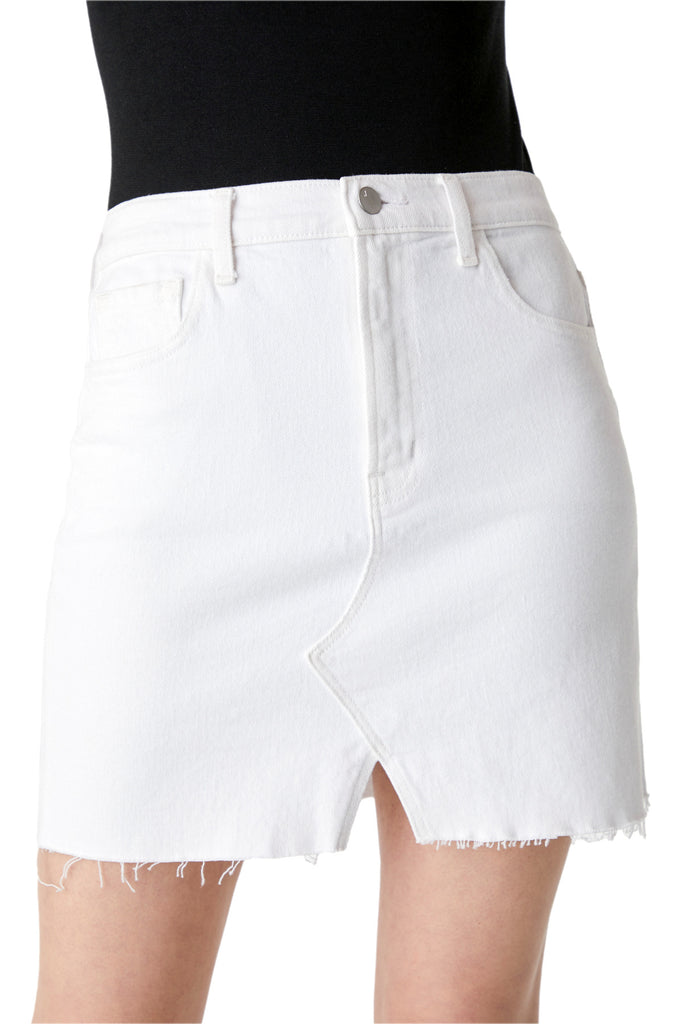 Jules High Rise Skirt in White