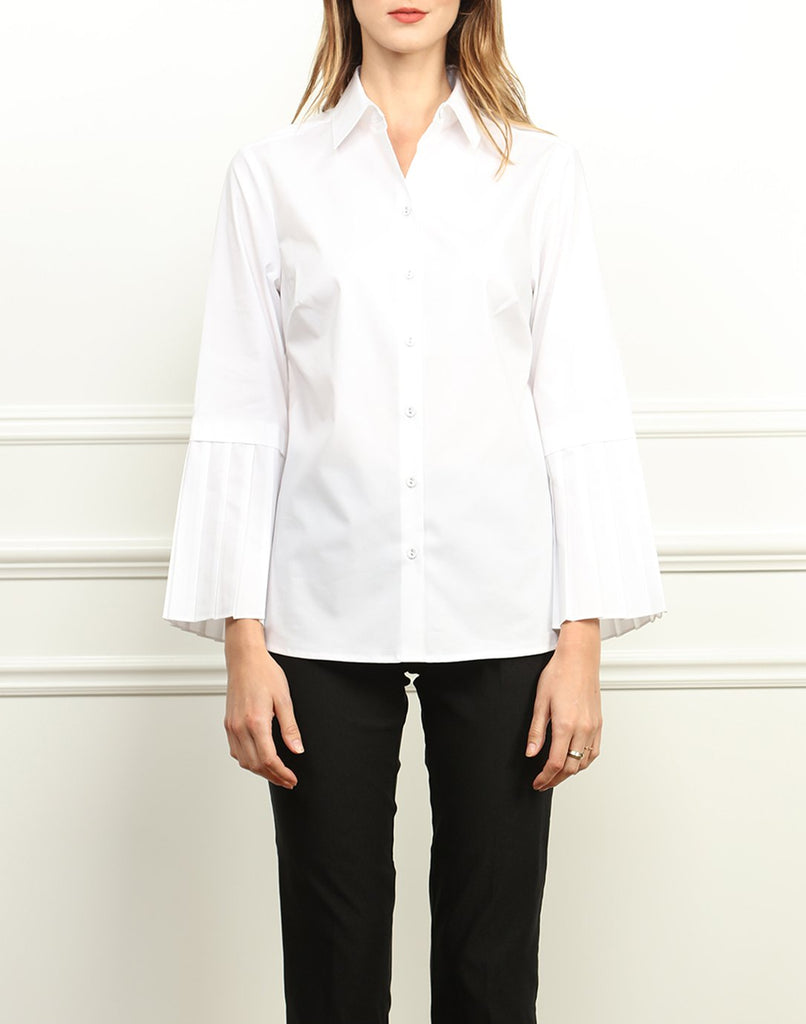 Carmen Pleated Sleeves Shirt