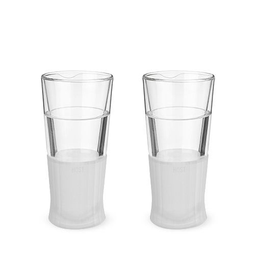 Glass Freeze Beer Glass (Set of 2)
