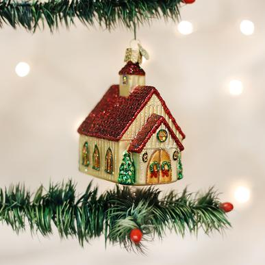 Christmas Chapel Ornament