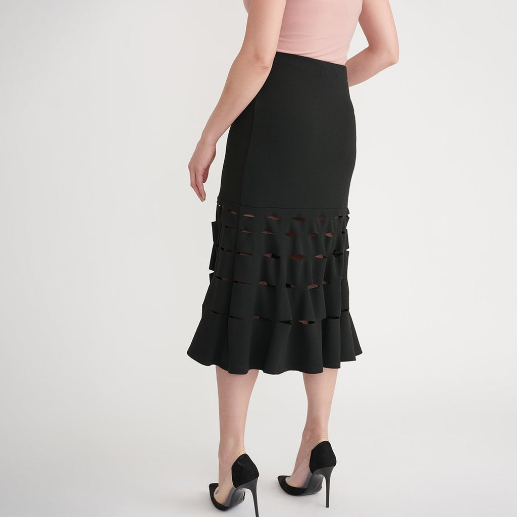 Joseph Ribkoff Midi Skirt with Cut Outs