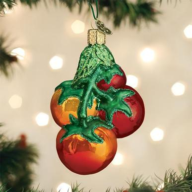 Tomatoes on a Vine Christmas Ornament