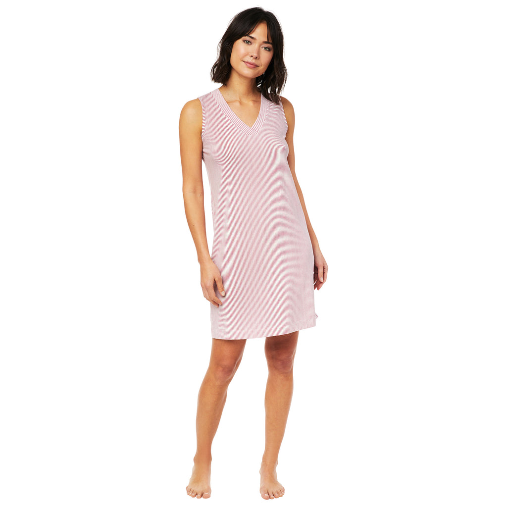 Simple Stripe Pima Knit Nightgown