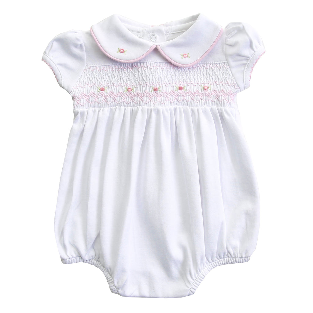 Lia and Luca's Classics Smocked Collared Girl Bubble P