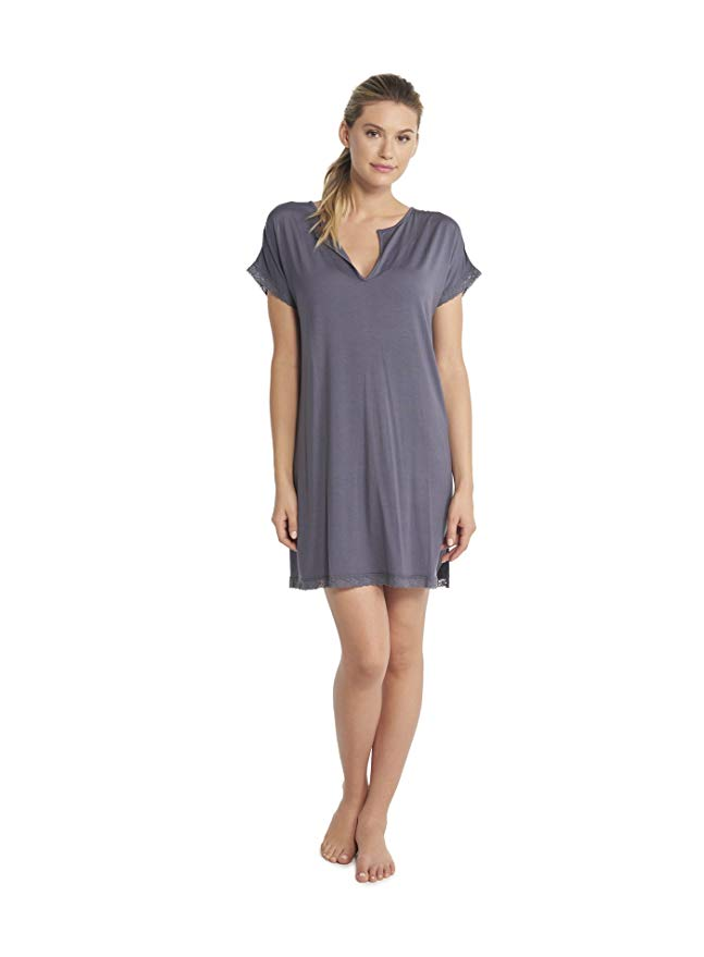 Luxe Milk Jersey Short Sleeve NightShirt