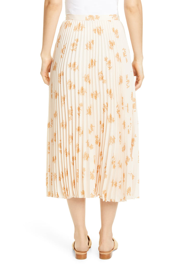 Adeena Floral Pleated Midi Skirt