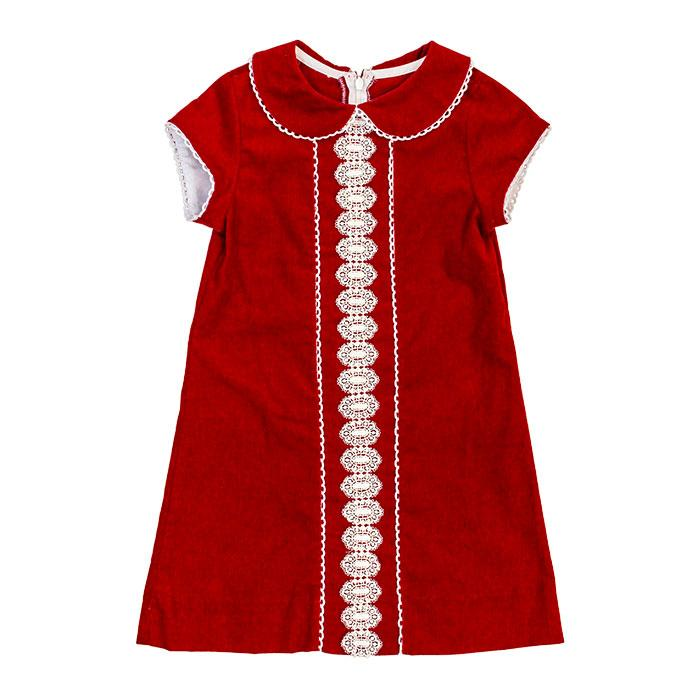 Red Corduroy Liza Dress
