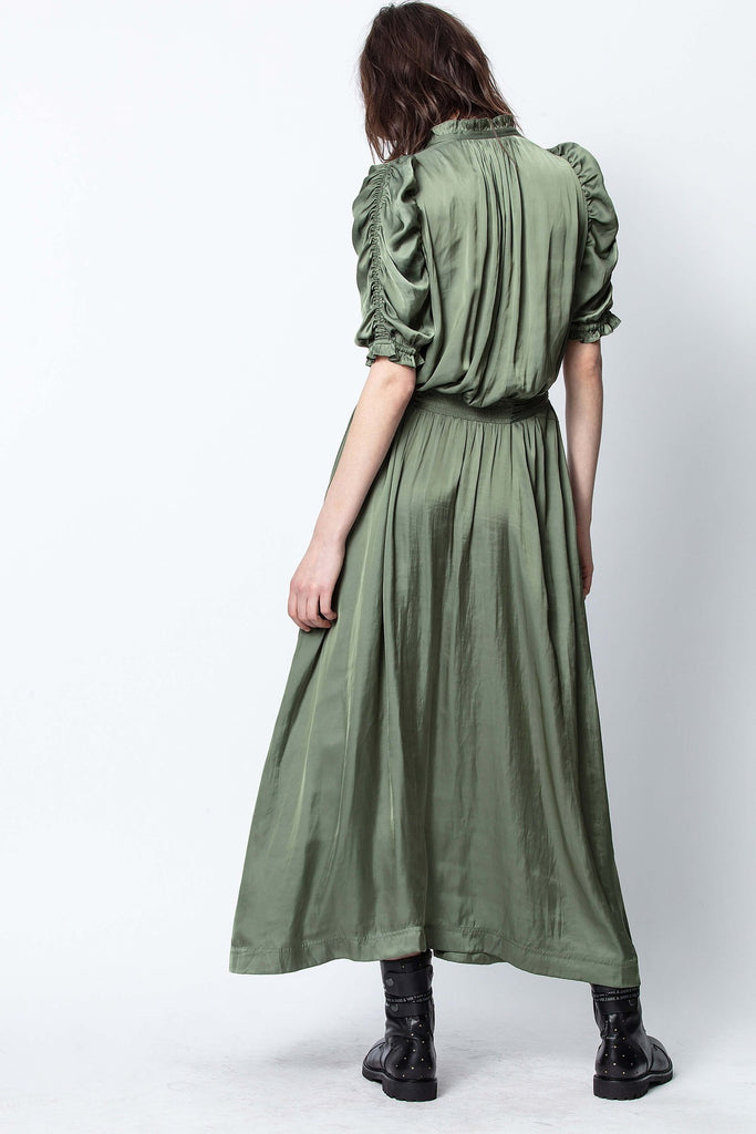 Ray Satin Long Dress