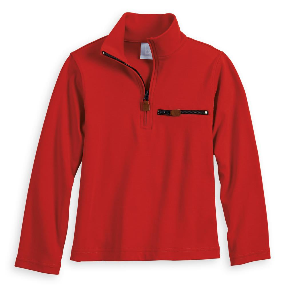 Pima Half Zip with Pocket