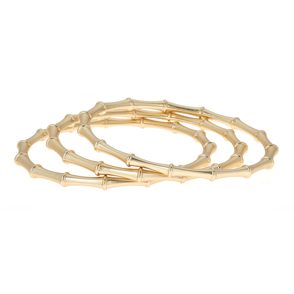 Set of 3 Brush Gold Harper Bangle
