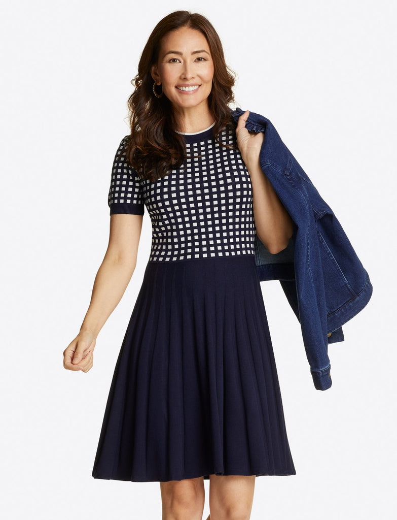 Gingham Sweater Dress