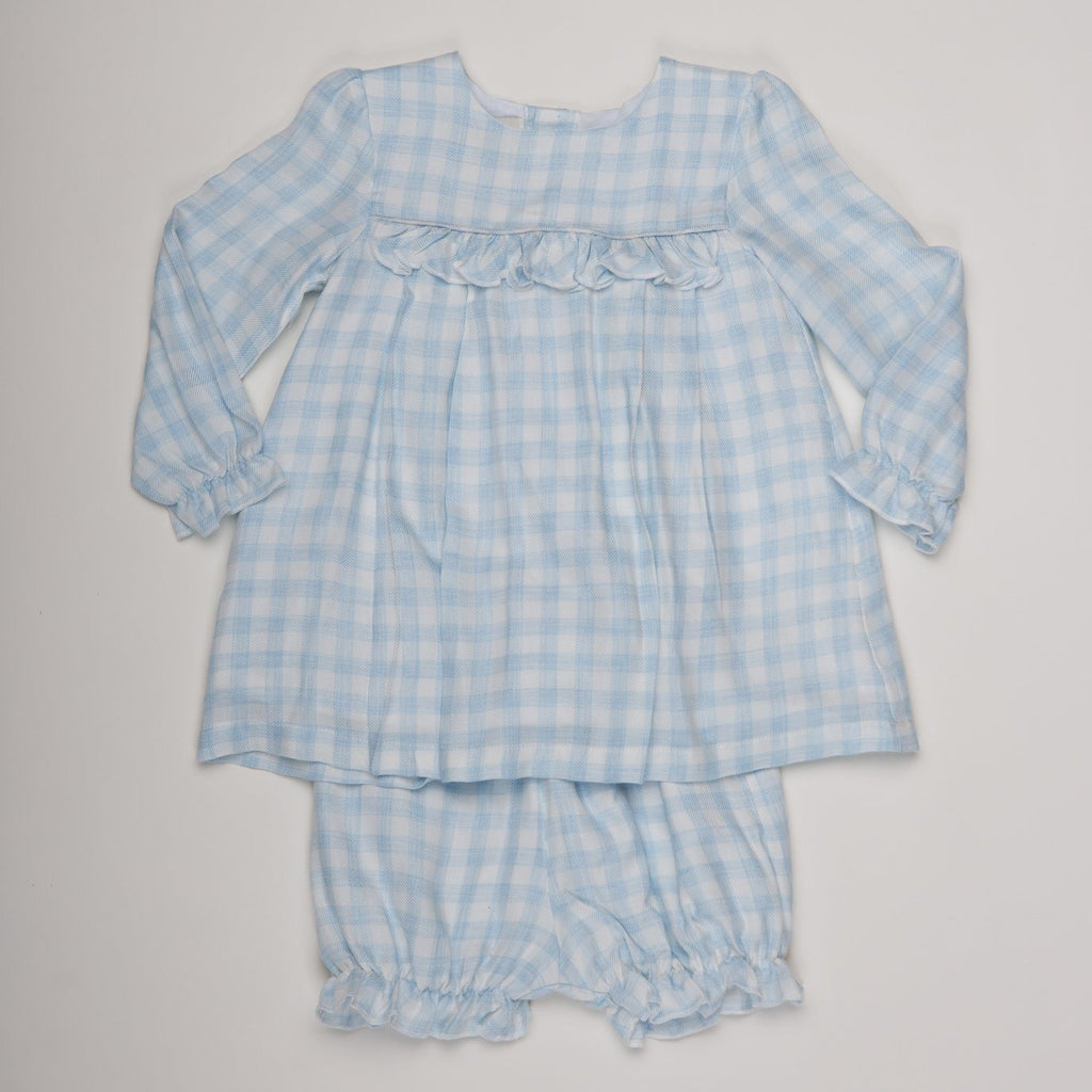 Blue Check Light Flannel 2pc Play Set