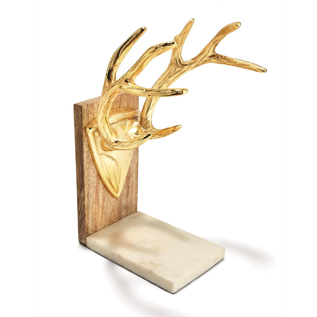 Golden Antler Bookends