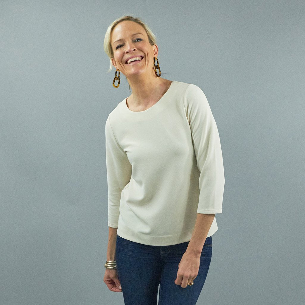 The Hudson Top - Ribbed Jersey