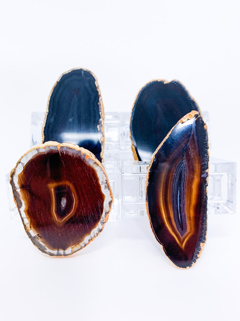 Agate Napkin Ring Holder