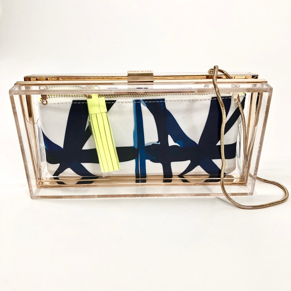 Lucite Brass Closure Clutch