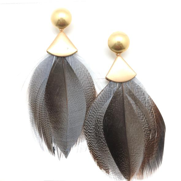 Naomi Feather Earrings