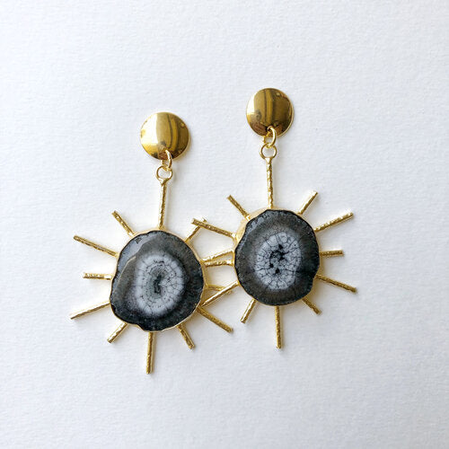 Quartz Starburst Earrings
