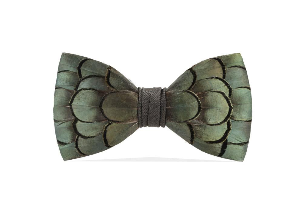 Brackish Feather Bow Tie