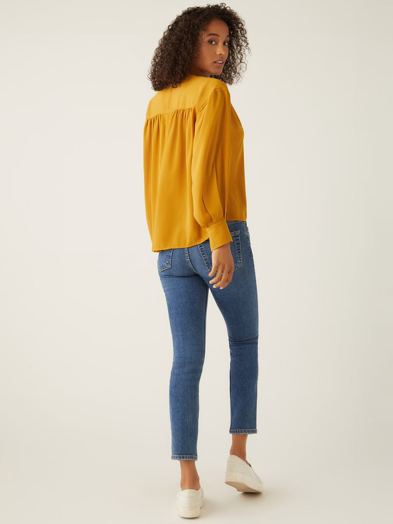 V-Neck Shirred Top