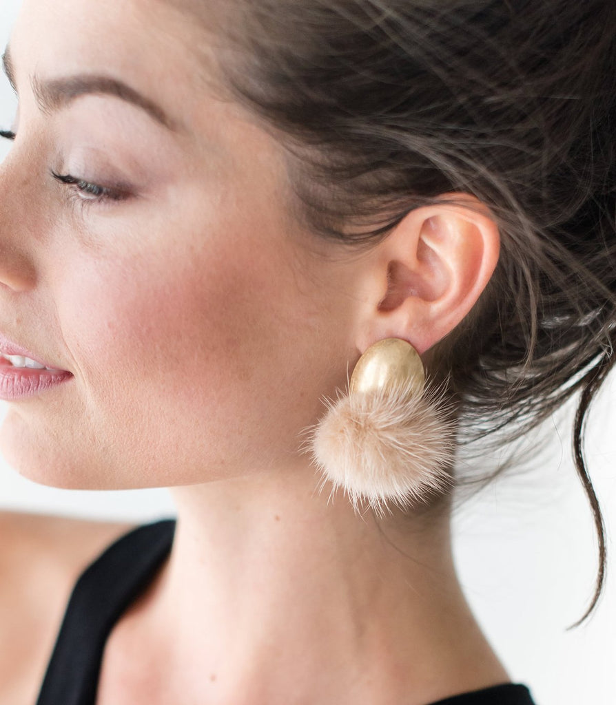 MInk Stud Earrings