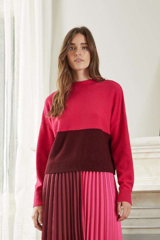 Frances Color Block Sweater