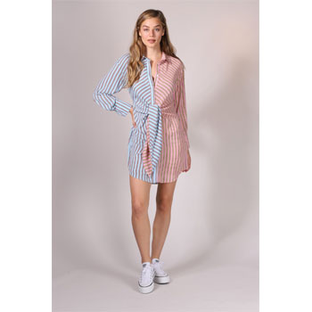 Prestige Striped Shirt Dress