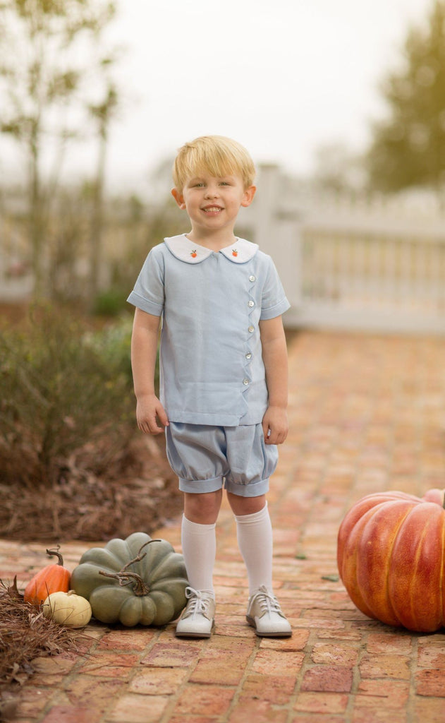 Tanner Blue Pumpkins Short Set