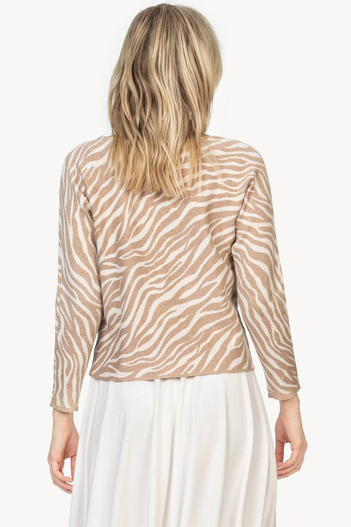 Animal Print Dolman Sweater