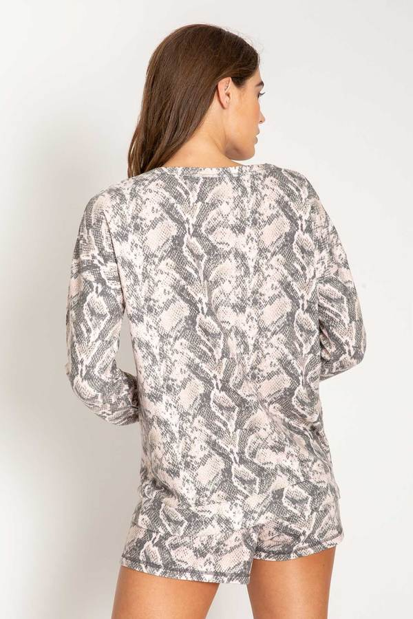 Animal Instincts Long Sleeve Top