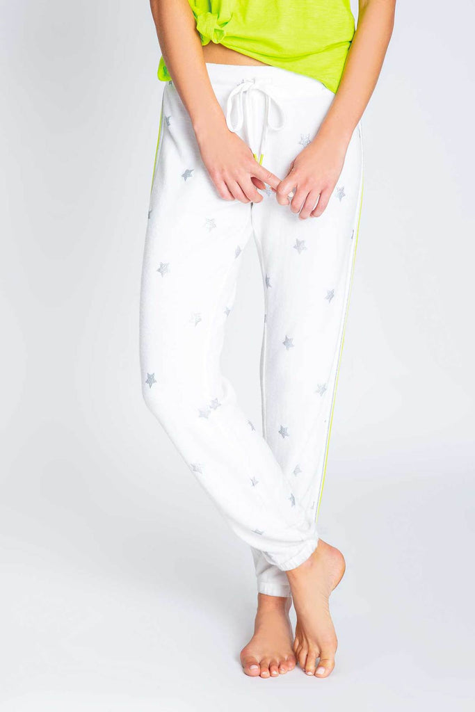 PJS Neon Stripe & Stars Banded lounge Pant