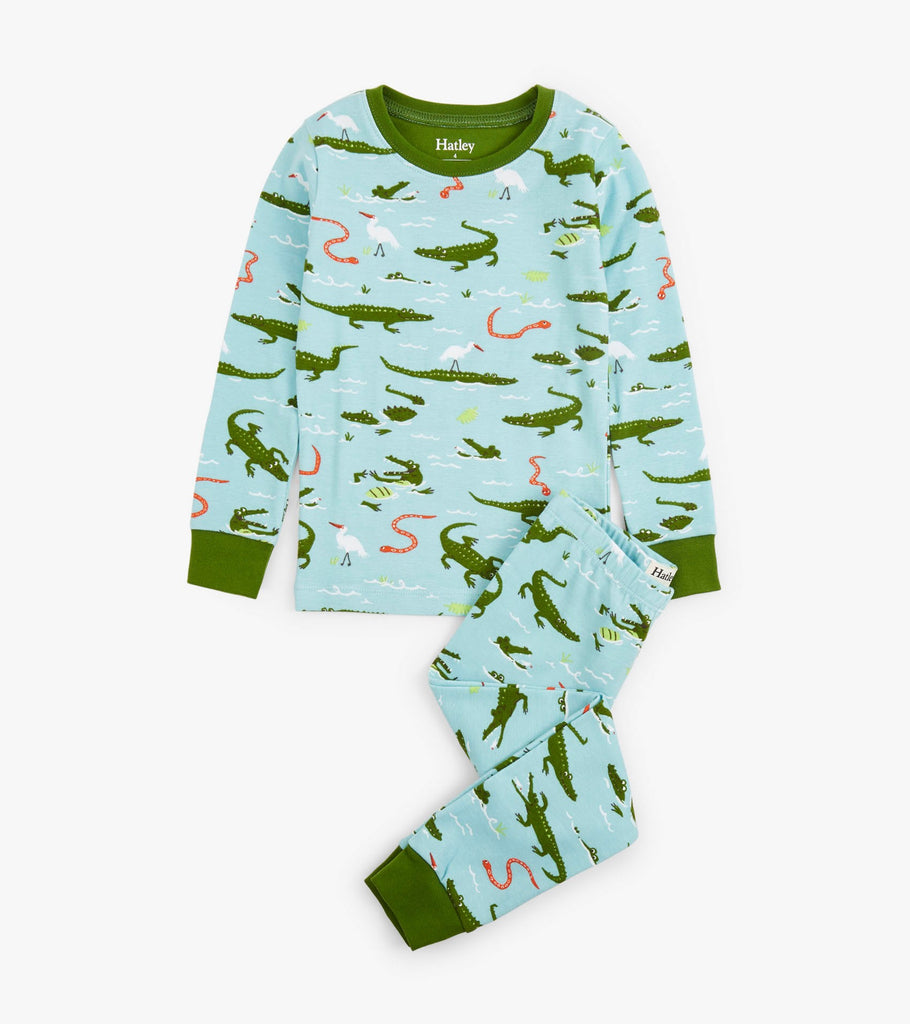 Swamp Gators Organic Cotton Pajama Set