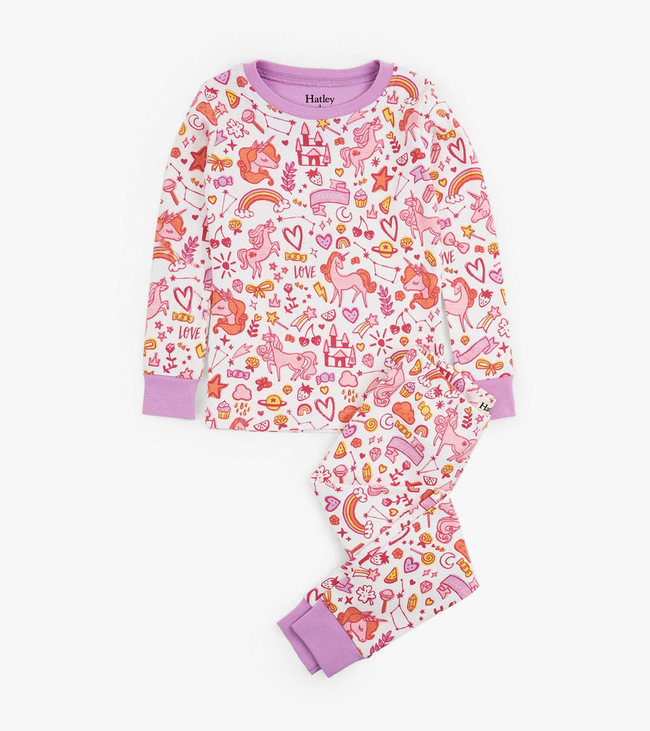 Unicorn Doodles Organic Pajama Set
