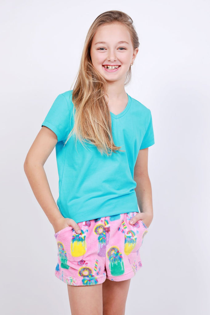 Milkshake Fleece Sleep Shorts